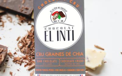 Chocolat CRU 75% Graines de Chia