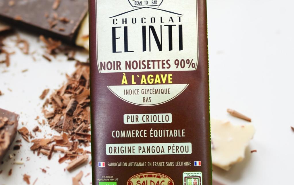 Chocolat noir 90% à l'agave et noisettes