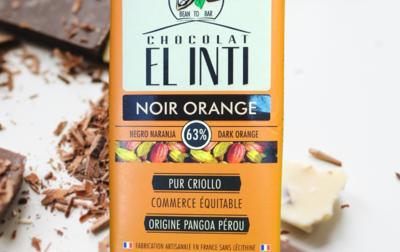 Chocolat noir écorce d'orange confite