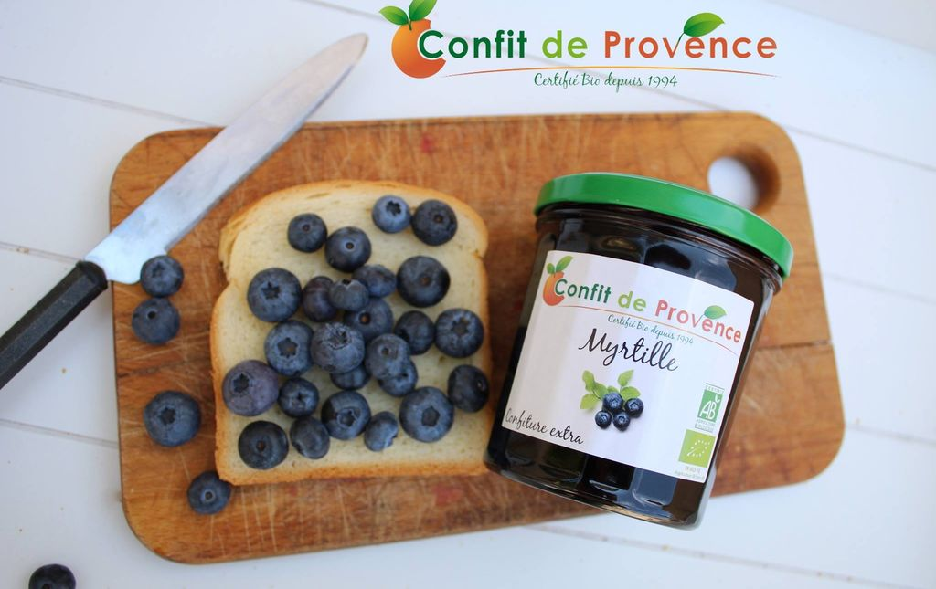 Confiture myrtilles bio 1