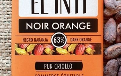 Chocolat noir écorce d'orange confite