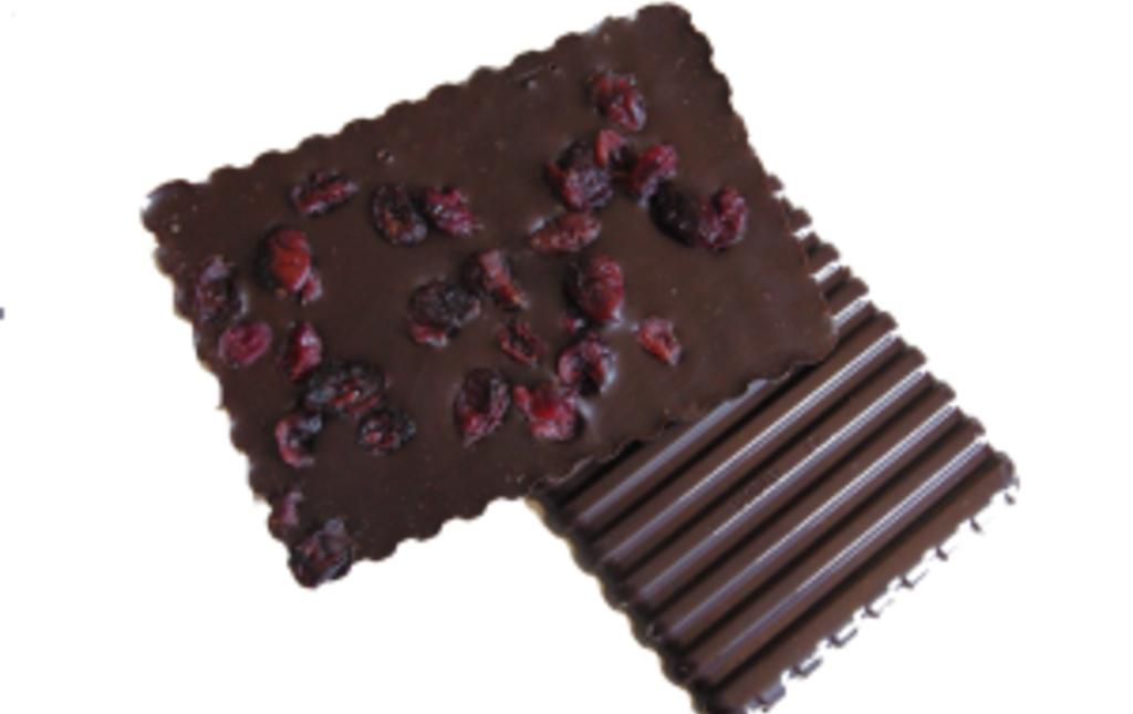 Chocolat noir (75%) et cranberries bio