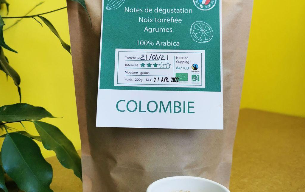 Café Colombie OOKA bio en grain Les Paniers Davoine