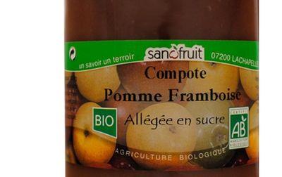 Compote de pomme framboise bio