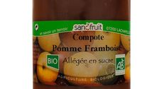 Compote de pomme framboise bio - Les Paniers Davoine