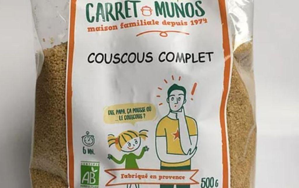Couscous complet bio - Les Paniers Davoine