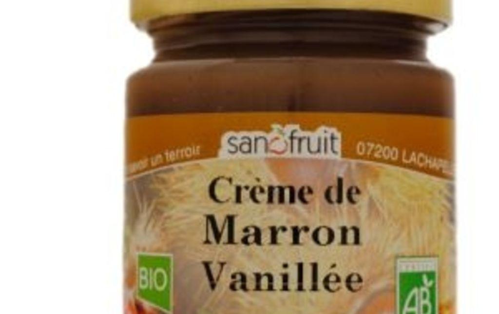 Crème de marron vanillée bio