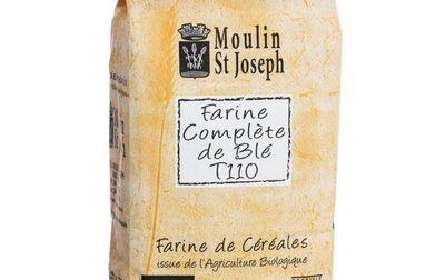 Farine de blé T110 complète bio - 1kg