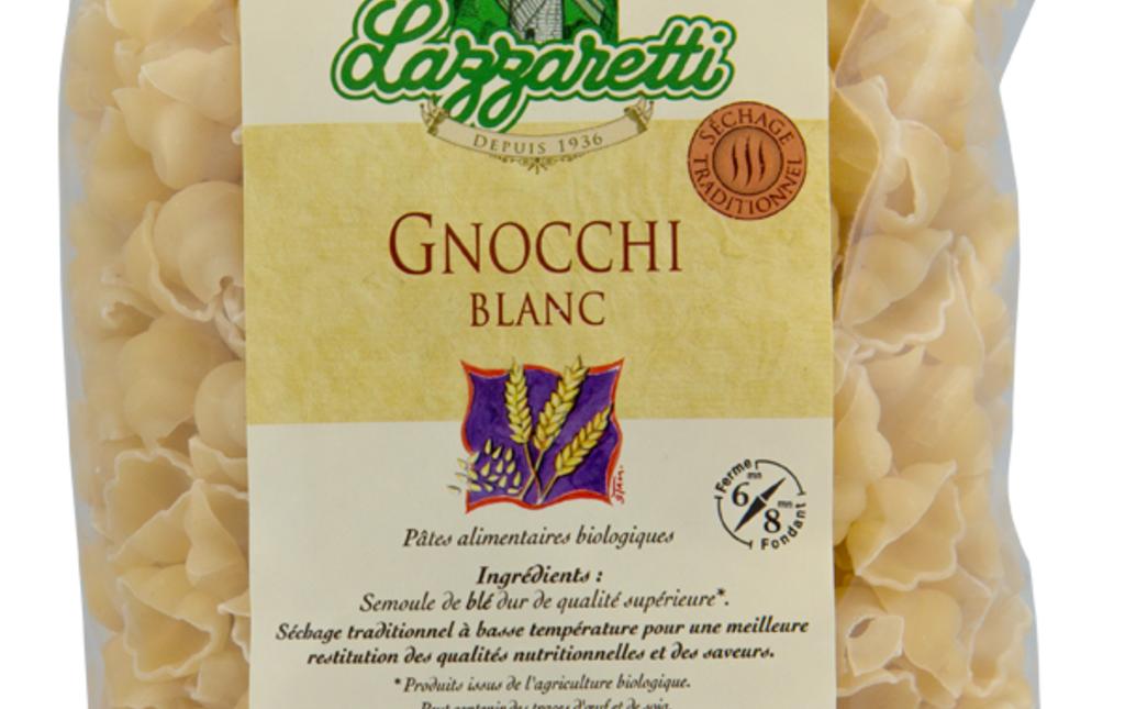 Pâtes gnocchi blanches bio