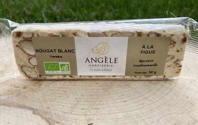 Nougat blanc aux éclats de caramel bio de Provence 50g