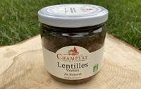 lentilles vertes au naturel bio les paniers davoine reserve champlat provence