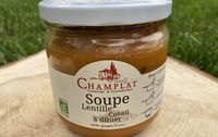 Soupe bio lentilles et corail les paniers davoine champlat provence