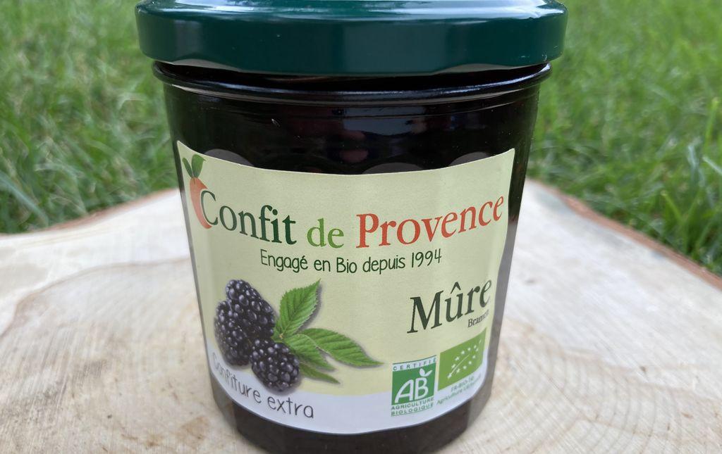 Confiture Confit de Provence Mures bio Les Paniers Davoine