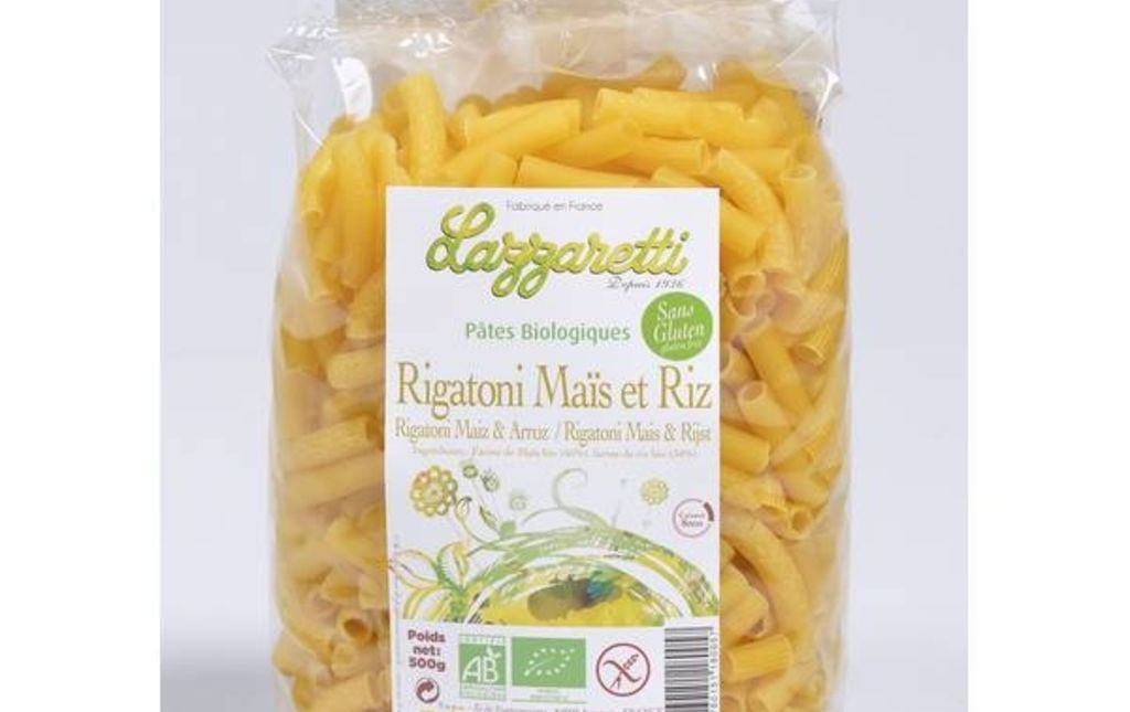 Pâtes Rigatoni de mais et riz - Les Paniers Davoine