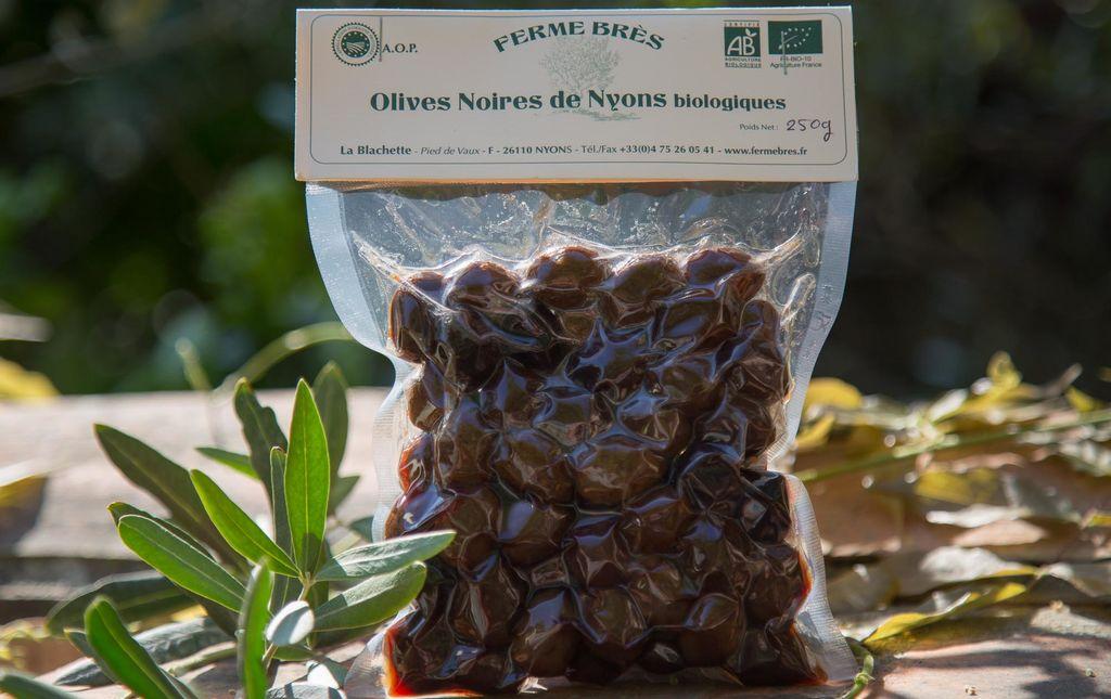Sachet d'olives noires de Nyons bio - Les Paniers Davoine