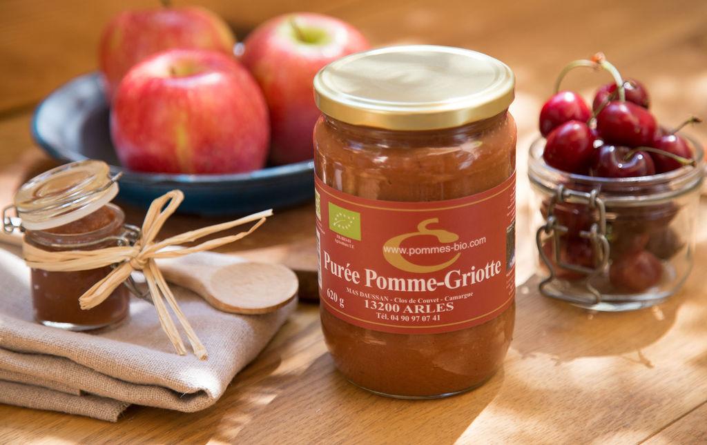 Purée de pomme à la griotte bio
