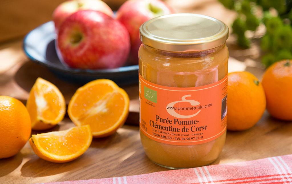 Purée de pomme clémentine bio - Les Paniers Davoine