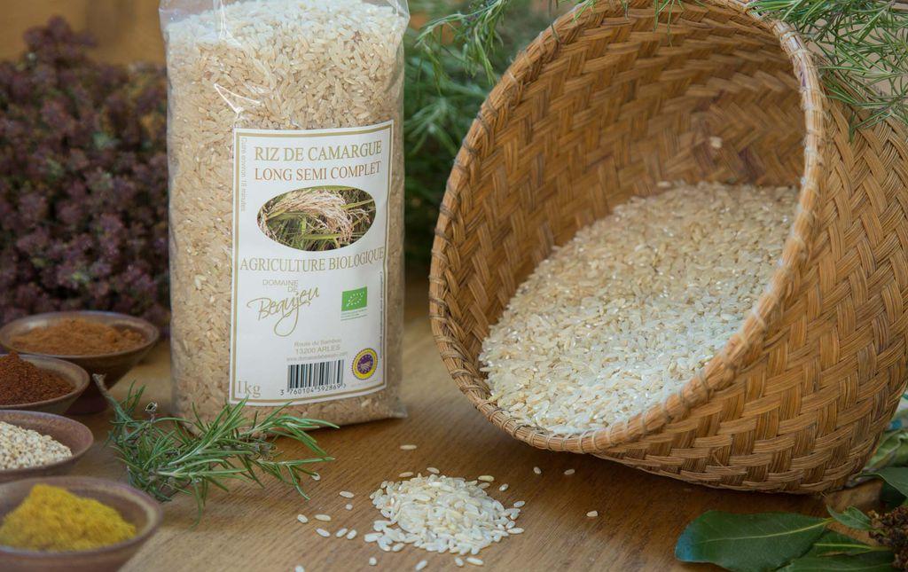 Riz semi complet bio Camargue les paniers davoine provence