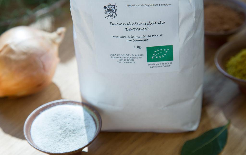 Farine bio de sarrasin (sans gluten)