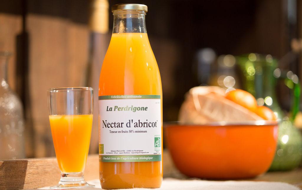 Nectar d'abricot bio de Provence Les Paniers Davoine