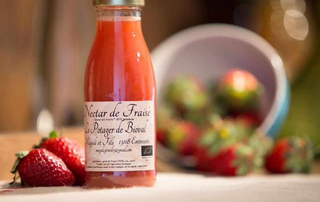 Nectar de fraise bio