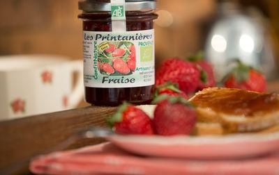 Confiture bio de fraise