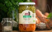 Bocal petit pois carotte bio provence les paniers davoine champlat