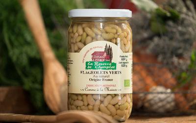 Flageolets bio cuisinés