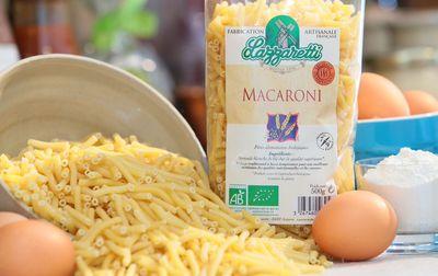 Pâtes macaroni blanc bio