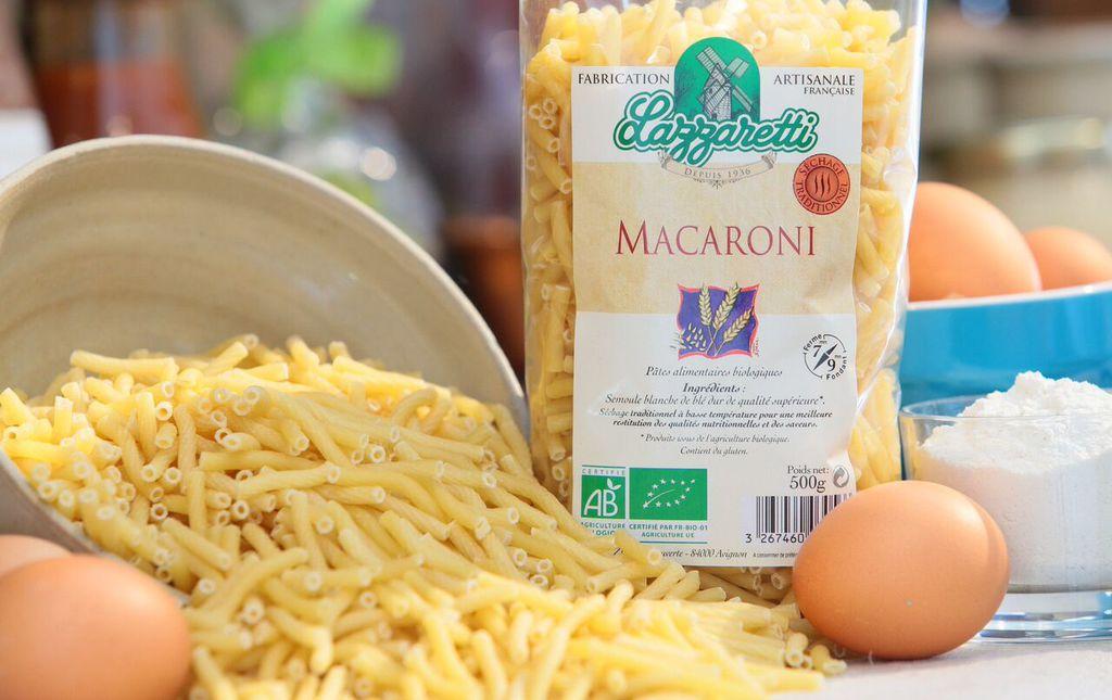 Pates macaroni blanc bio les paniers davoine provence