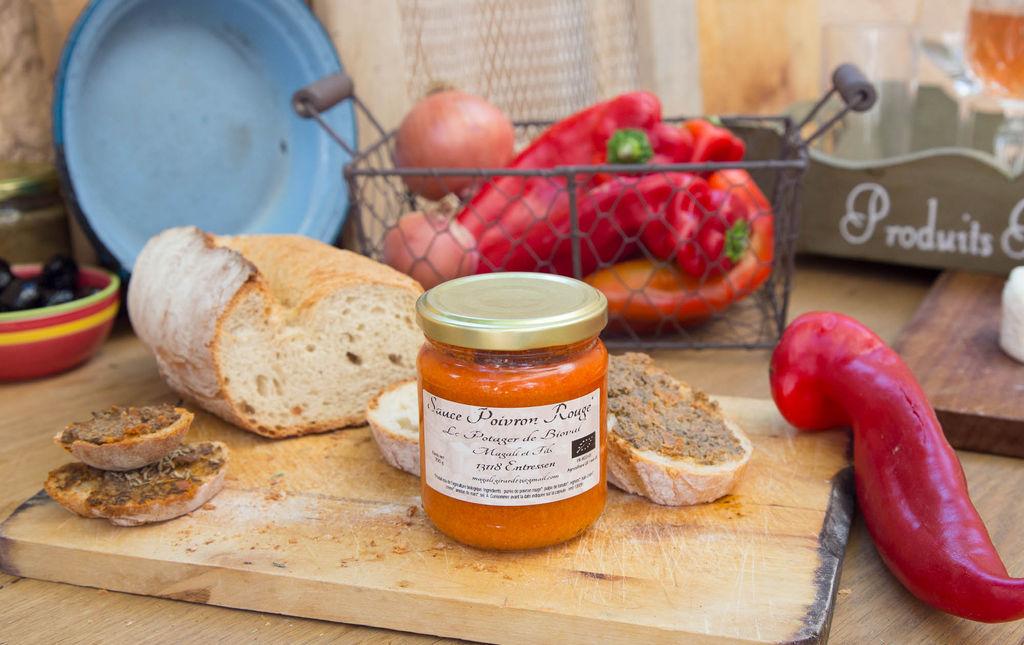 Sauce au poivron rouge bio provence les paniers davoine var