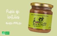 Purée de lentilles aux noix. Produit de Provence.