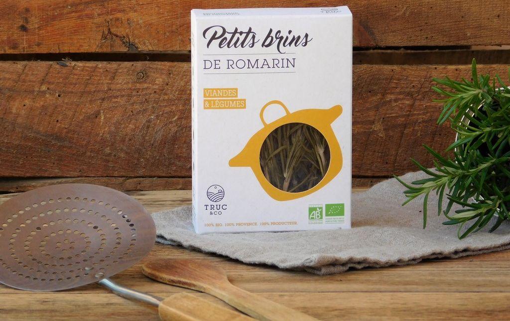 Petits brins de romarin bio de Provence