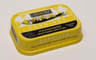 Sardines marinade citron basilic bio
