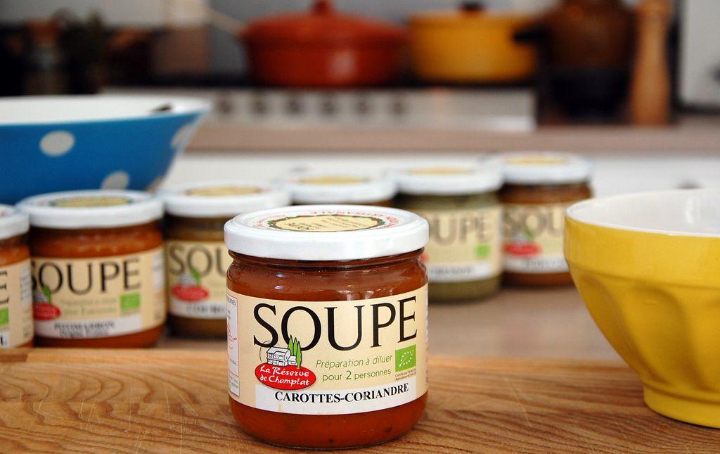 Soupe bio carotte coriandre les paniers davoine provence var champlat