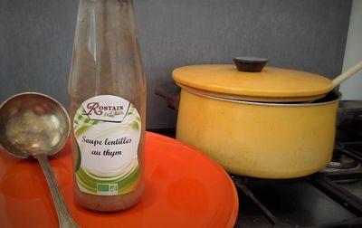 Soupe de lentille au thym bio