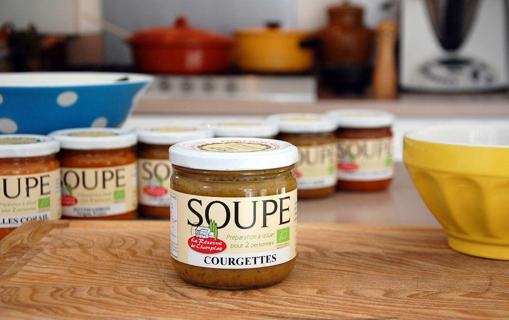 Soupe bio de courgette