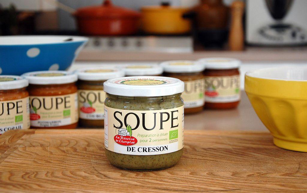 Soupe bio de cresson les paniers davoine champlat