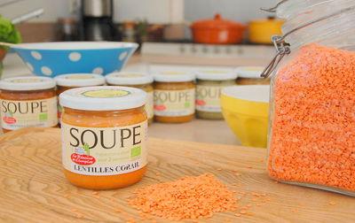 Soupe bio lentilles corail
