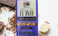 Chocolat noir aux éclats de fèves 69 % de cacao bio