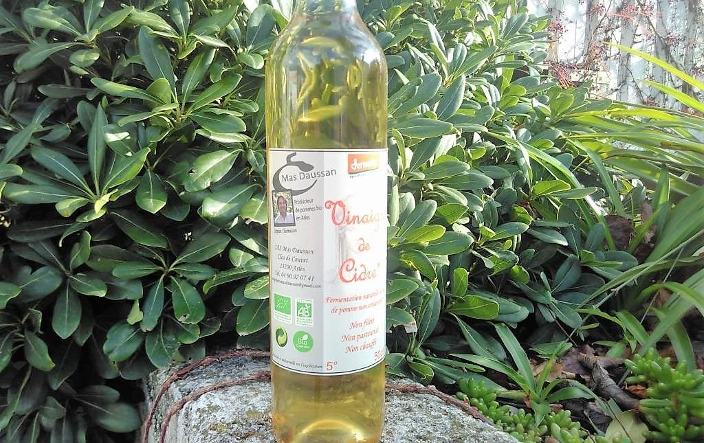 Vinaigre de cidre bio de Provence les paniers davoine