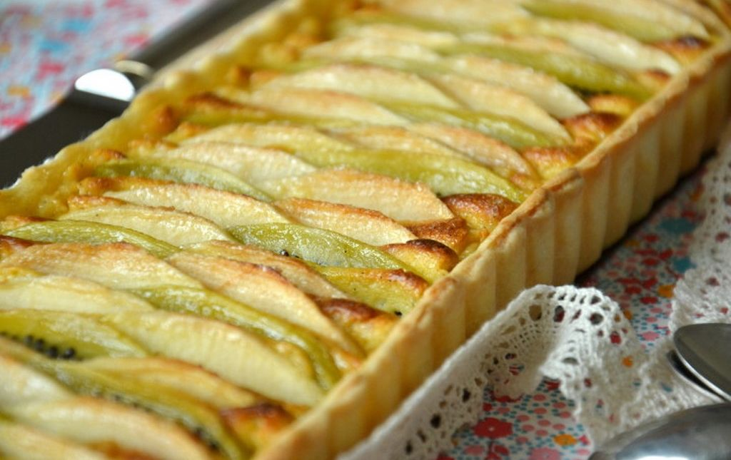 recette bio tarte fine aux poires pommes et kiwis. Black Bedroom Furniture Sets. Home Design Ideas